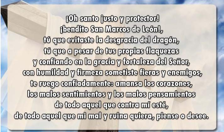 Orar a San Marcos León