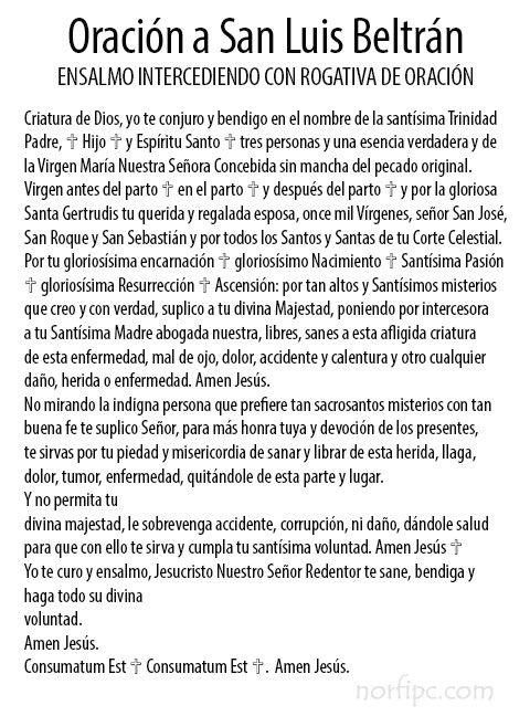 Oración a San Luis Beltrán conoce su historia