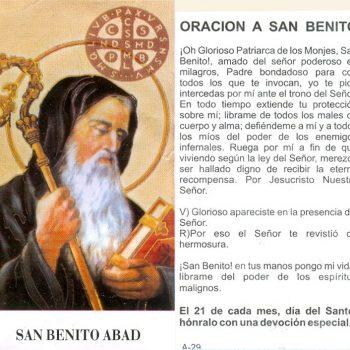 Orar a San Benito