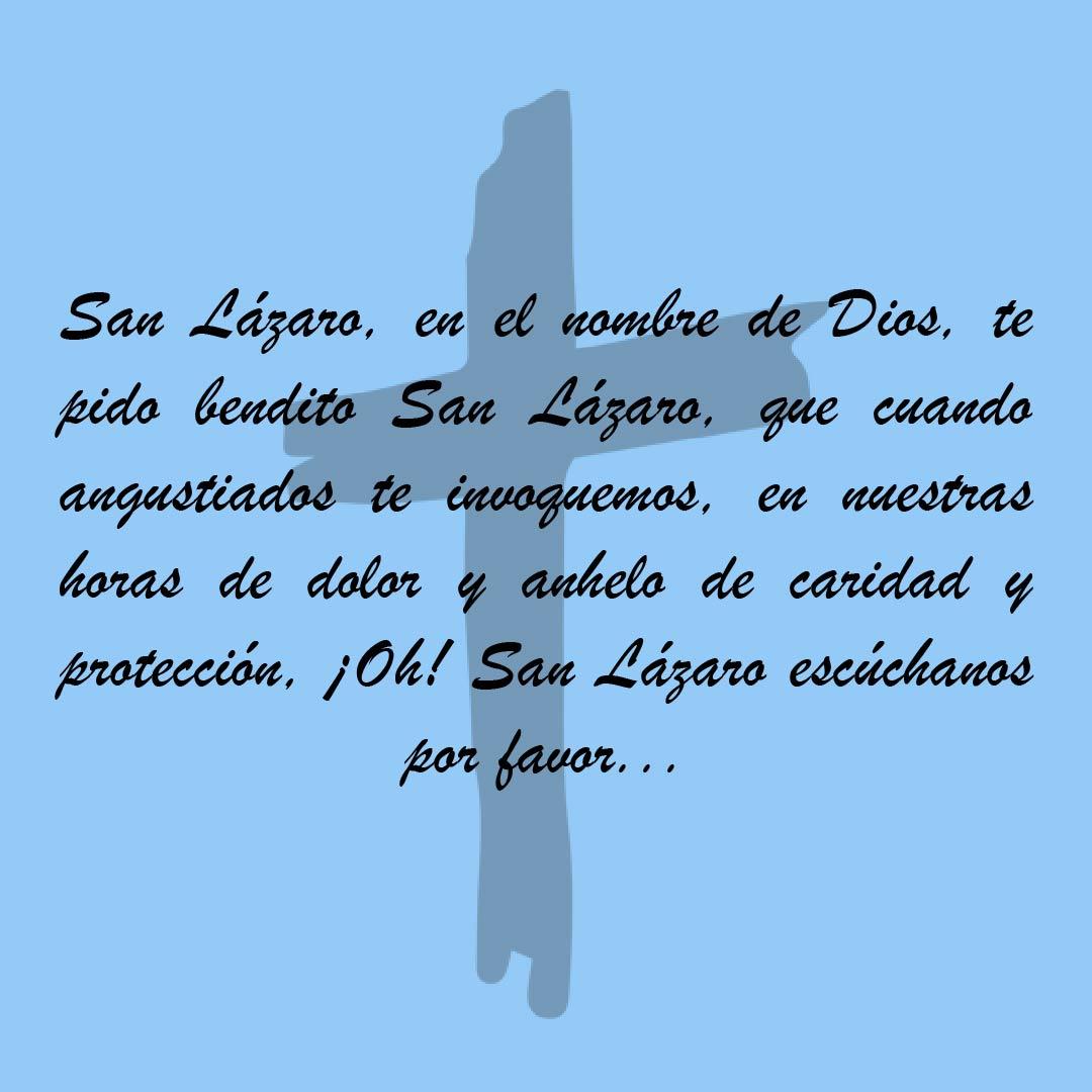 Oración a San Lázaro