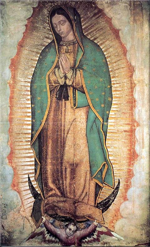 Primer Lienzo de la Virgen de guadalupe