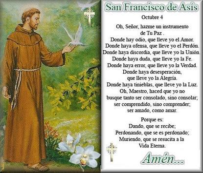 Con la oración de san francisco de asís podrás tener mucha ayuda de su parte