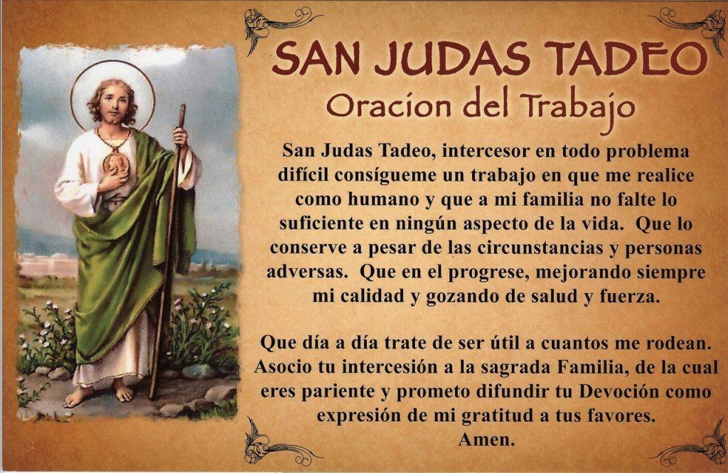 Realiza la Oración a San Judas Tadeo