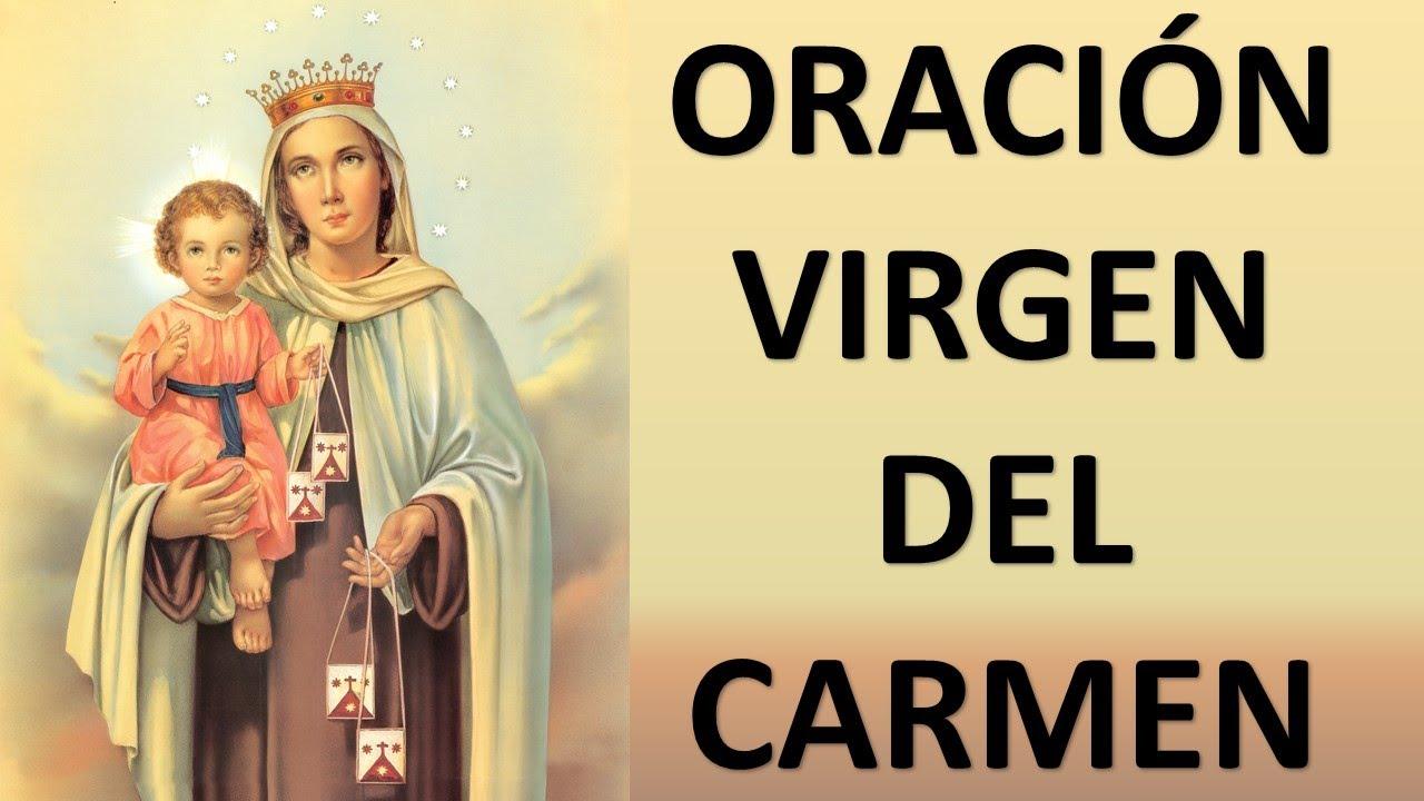 Oraciones de la Virgen del Carmen