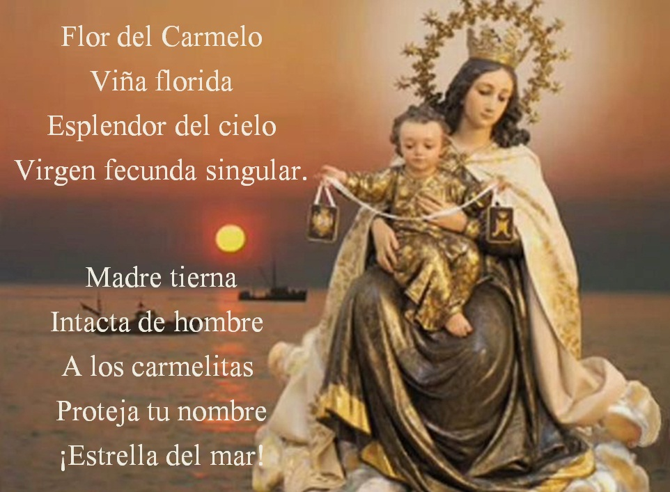 Puedes usar estas oraciones de la virgen del carmen